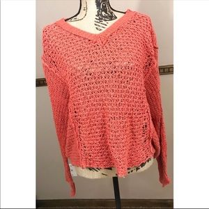 Free People Loose Cable Knit Sweater